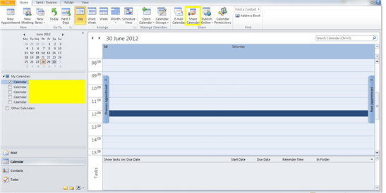 Outlook Calender Business IT Support